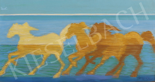 For sale  Dombay, Lelly (Dombay Lelli, Dornis Istvánné) - Running Stud 's painting