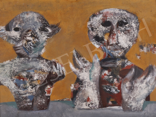 For sale Scholz, Erik - Two Creatures, 1969 's painting
