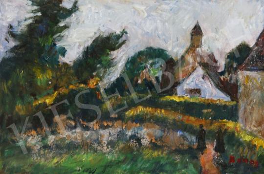 Eladó Monos József - A templom felé festménye