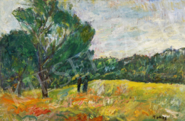 Monos József - Sétálók az erdő szélén