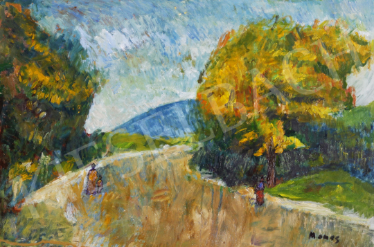 For sale Monos, József - Figures on the Riverbank 's painting