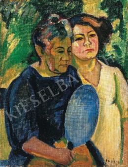 Czigány Dezső - Két nő arcképe, 1909