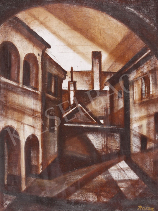 For sale  Roisz, Vilmos - Yard in Kőszeg 's painting