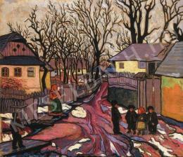 Boromisza Tibor - Téli utca gyerekekkel, 1910-es évek eleje