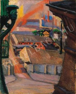 Tihanyi Lajos - Városrészlet (1910-es évek első fele)