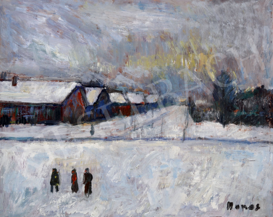 For sale Monos, József - Village in Winter 's painting