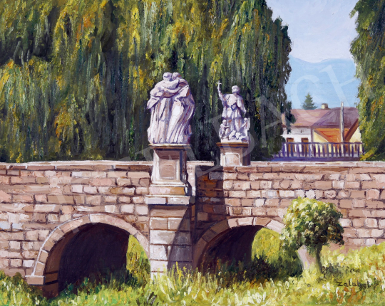 Eladó  Zalubel István - Híd szentekkel festménye