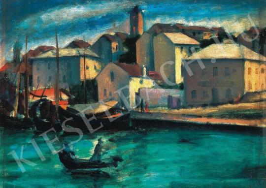Márffy Ödön - Dalmát tengerpart, 1910-es évek eleje festménye