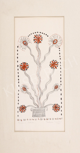 Szekeres, Erzsébet - Tree of Life with Poppies, 1989
