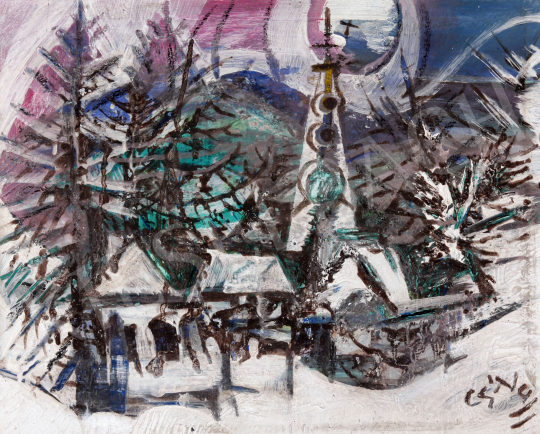 For sale Nagy, Balázs Cs. - Village in Winter 's painting