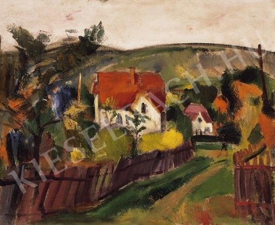 Márffy Ödön - Falu, 1910-es évek eleje festménye