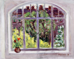 Unknown painter with a sign of Molnár L. - Fruit Tree from the Window