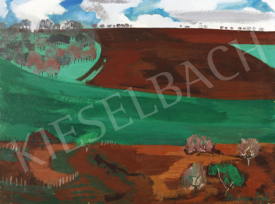 For sale Batári, László - Fields in Sáregres, 1973 's painting