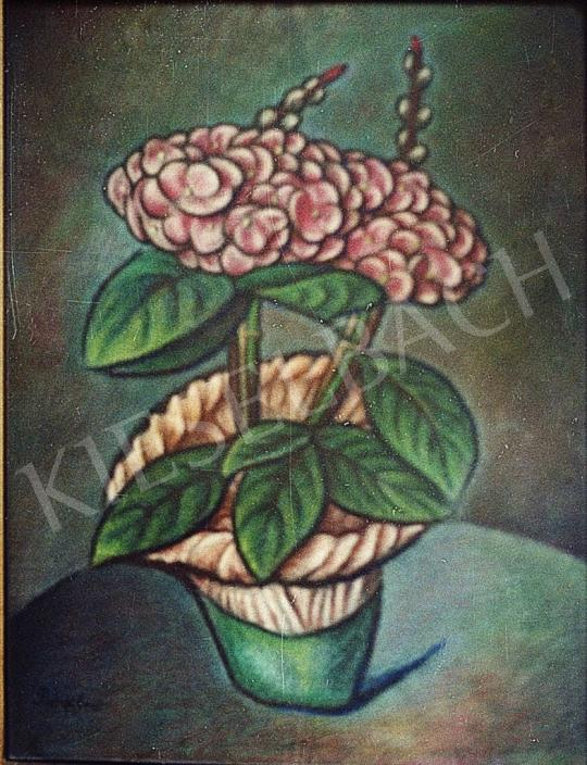 For sale Bánk, Ernő - Hydrangea (Realist Still Life of Flowers) 's painting