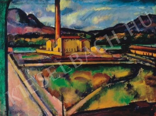 Márffy Ödön - Zebegényi téglagyár, 1910 körül festménye