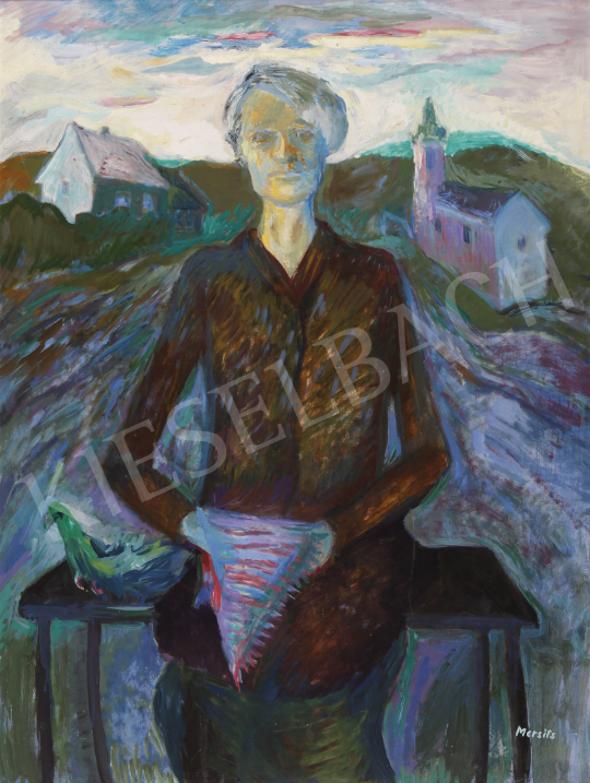 For sale Mersits, Piroska - A Women at the end of the Village 's painting