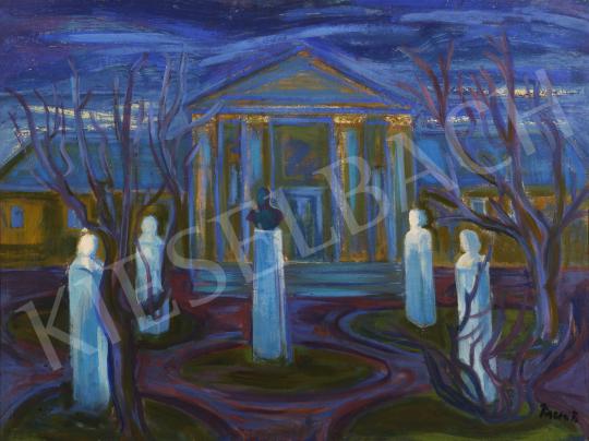 Eladó  Mersits Piroska - Múzeumkert festménye