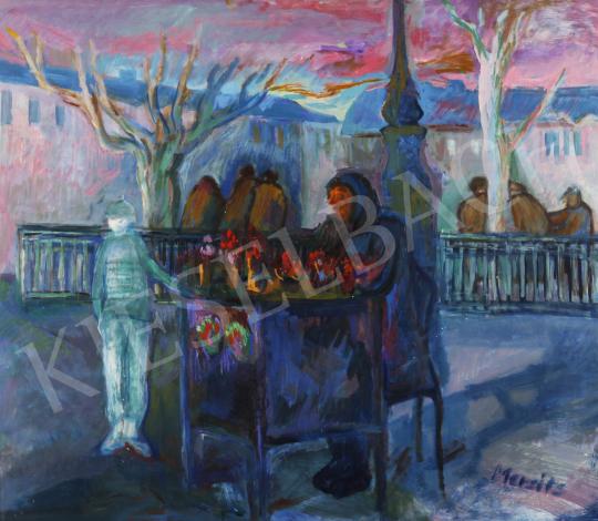 Eladó Mersits Piroska - Virágárus festménye