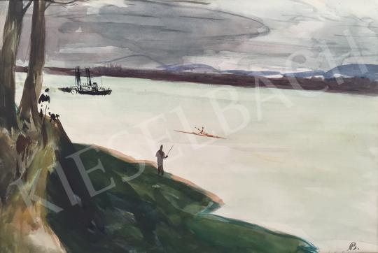 Bernáth Aurél - Duna-part festménye