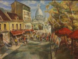 Udvary Pál - Párizsi utcarészlet, 1980
