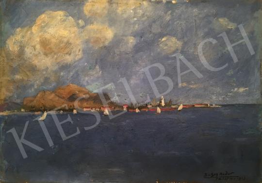 Basch Andor - Vitorlások festménye