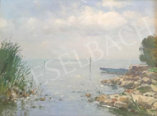 Halasi Horváth, István (Horváth István) - Lake Balaton in Autumn painting