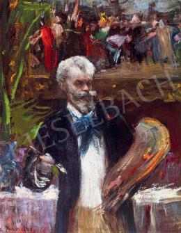 Halmi Artúr - Munkácsy Mihály párizsi műtermében,1892