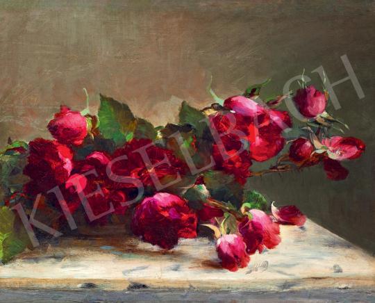 Vaszary János - Csendélet rózsákkal (Magia Nera), 1890-es évek | 55. Tavaszi Aukció aukció / 15 tétel