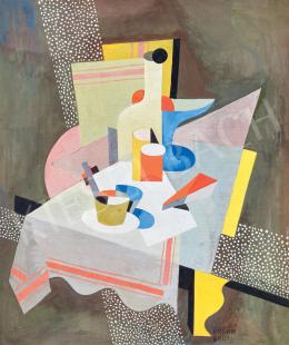 Kádár Béla - Kubista csendélet (Csendélet asztalon), 1926 körül