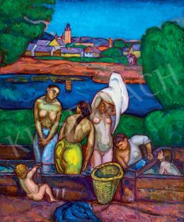Iványi Grünwald, Béla - Women Bathing (Nagybánya), 1909