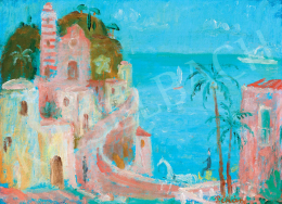 Pekáry István - Mediterrán táj vitorlással (Cote d'Azur)