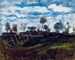 Koszta József - Tájkép vonuló felhőkkel