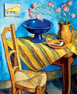 Korda Vince - Műteremsarok Van Gogh székével, 1925