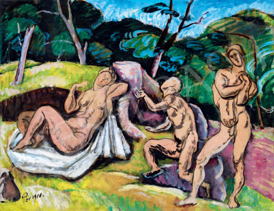 Pór Bertalan - Vágyódás tiszta szerelemre, 1910 | 55. Tavaszi Aukció aukció / 82 tétel