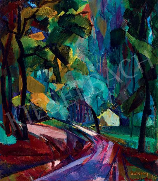 Barcsay Jenő - Erdei út (Dús, eső utáni hangulat), 1927 körül | 55. Tavaszi Aukció aukció / 94 tétel