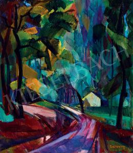 Barcsay Jenő - Erdei út (Dús, eső utáni hangulat), 1927 körül