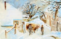 Szőnyi István - Zebegényi utca télen, 1938