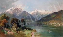 Molnár, József - Romantic Ladscape with Snowy Mountains