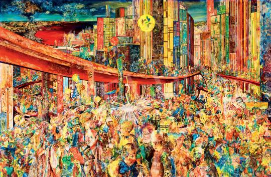 Korga György - Piros tollak (A Hirosimák emlékezése), 1965 | 55. Tavaszi Aukció aukció / 112 tétel
