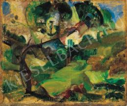 Szobotka, Imre - Landscape with a Lying Figure, 1912/1914.