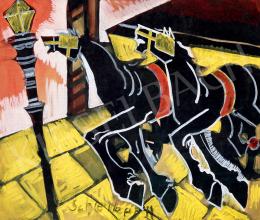 Scheiber Hugó - Lovaskocsi, lámpafény, 1930-as évek