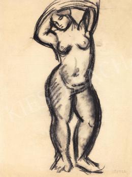 Czóbel Béla - Álló női akt, 1907 körül