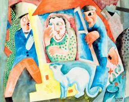Kádár Béla - Szerelmi jelenet, 1925 körül