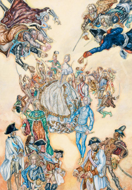Batthyány Gyula - A fiatal Mária Terézia bemutatja II. Józsefet a magyar főrendeknek (Örökösödési háború)
