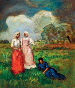 Iványi Grünwald Béla - Lányok a mezőn, 1910-es évek