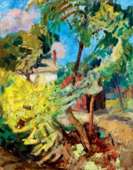 Berény Róbert - Kilátás a kertre