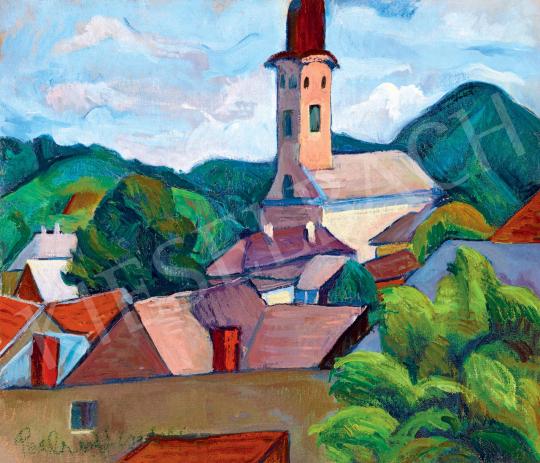 Perlrott Csaba Vilmos - Nagybánya látképe, 1920-as évek | 55. Tavaszi Aukció aukció / 182 tétel