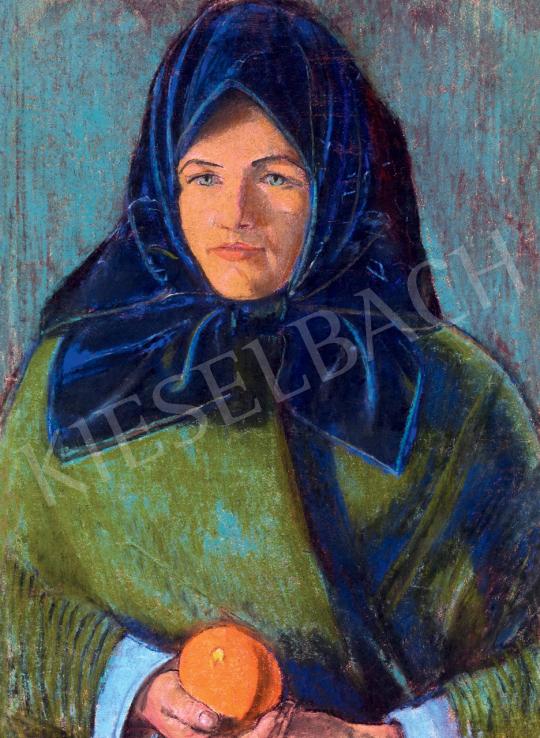 Nagy István - Főkötős lány naranccsal, 1935 körül | 55. Tavaszi Aukció aukció / 192 tétel