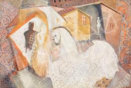 Kádár Béla - Art deco kompozíció lóval, 1930-as évek