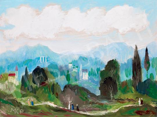 Molnár C. Pál - Itáliai táj | 55. Tavaszi Aukció aukció / 202 tétel